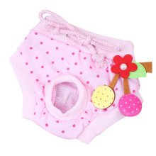 Soft Pet Supplies Dogs Costumes Underwear Clothes Diapers Hygienic Pants Pink