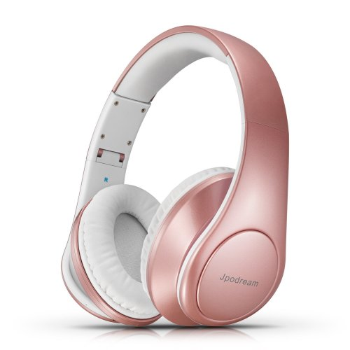Over Ear Headphones, Wireless Bluetooth Headphones with Deep Bass, Foldable & Lightweight, Wireless and Wired Mode for PC, Cellphone, TV and...