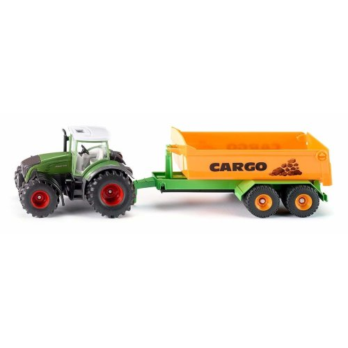 SIKU 1989 Fendt with Hook Lift and Trough 1:50