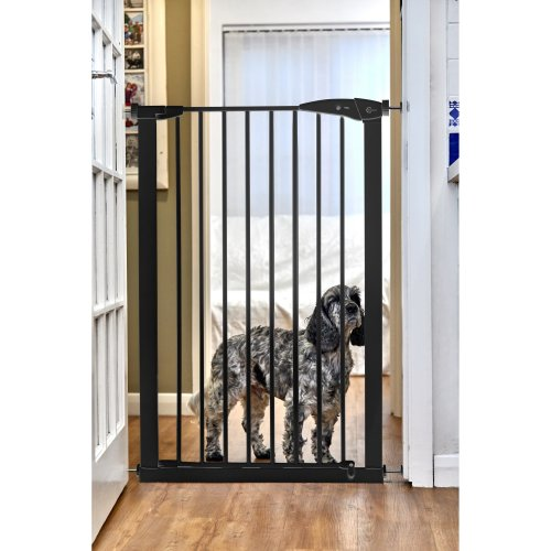 Callowesse Extra Tall Pet Dog Gate 75-82cm Pressure - Black 110cm High