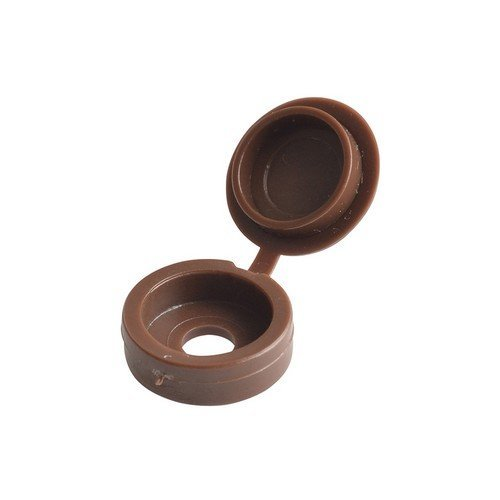 Forge 100HCC1 Hinged Cover Cap Dark Brown No. 6-8 Bag of 100