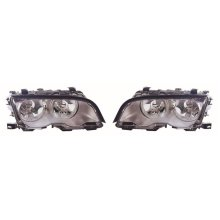 BMW 3 Series E46 2 Door Coupe 1998-2001 Chrome Headlights Lamps 1 Pair O/S & N/S