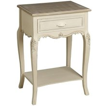 Country French Style Bedside -  bedside shabby chic country table french style chest cabinet cream furniture new antique
