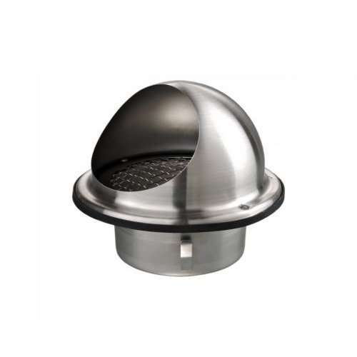 """Stainless Steel Round Air Vent Grill 100 mm 4"""" For Extractor - Bull Nosed"""