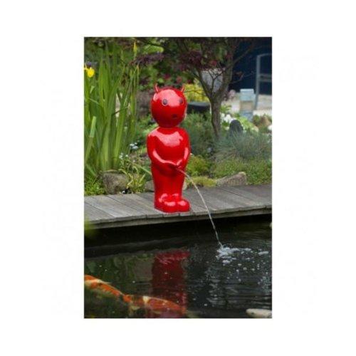 Ubbink Pond Spitter Boy Devil Small Red 45.5 cm Water Feature Statue 1386128