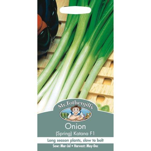 Mr Fothergills - Pictorial Packet - Vegetable - Spring Onion Katana F1 - 250 Seeds
