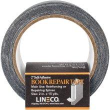 """Lineco Self-Adhesive Book Repair Tape-Black 2""""X15yd"""