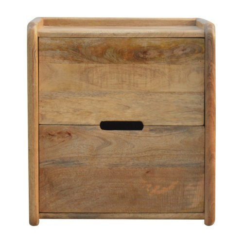 Gallery Back 2 Drawer Bedside with Open Slot