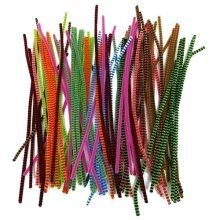 100 Candy Stripe Pipe Cleaners 30cm x 6mm