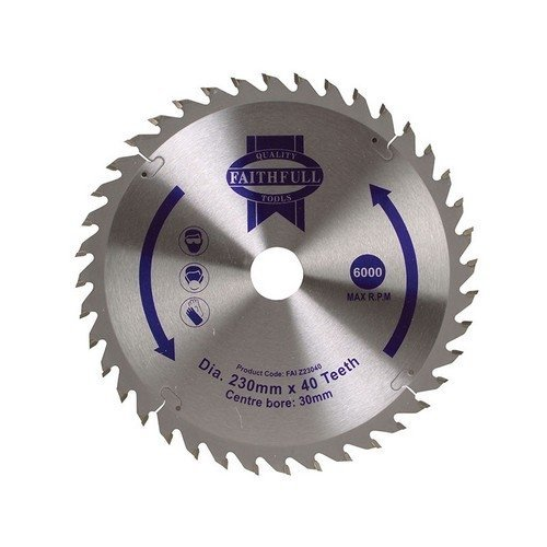 Faithfull FAIZ23040 Circular Saw Blade TCT 230 x 30mm x 40T Fine Cross Cut