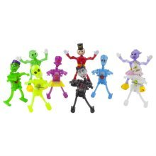 Set of 9 Halloween and Humanoid Themed Wind-up Toys