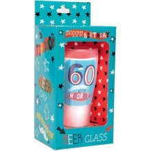 Simon Elvin Keepsakes Milestone Age Beer Glass - 60th - Happy Easter -  happy easter platesnapkinscupsconfetti tableware