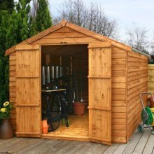 12x8 - Overlap Apex Shed - Double Door
