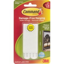 Large White Hanging Strips -  strips command large picture hanging 3m free damage poster 4 frame