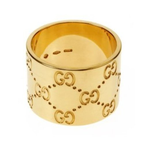GUCCI RING ICON 18KT YELLOW GOLD SIZE 17 073234 09850 8000