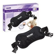 Bauer Black Rechargable Electric Hot Water Bottle or Back Treatment Pad with Cover