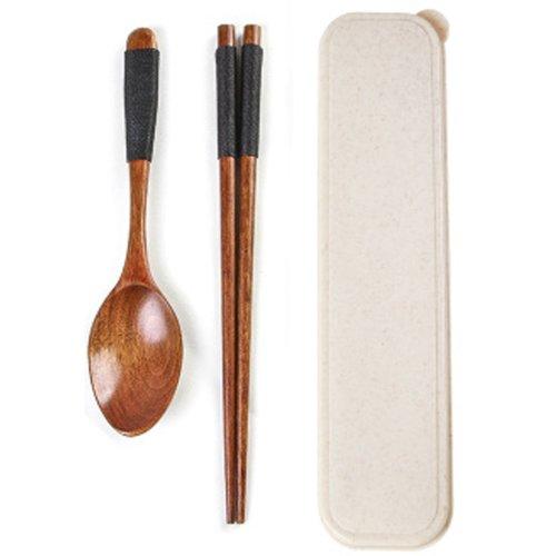 Japaness Kitchen Tableware Dinnerware Flatware Eco friendly Wood Cutlery Wooden Dinner Set #11