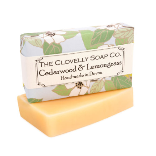 Clovelly Soap Handmade Cedarwood & Lemongrass Natural Soap  100g