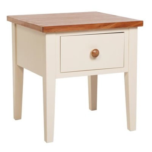James Wood Lamp Cream Table with Drawer