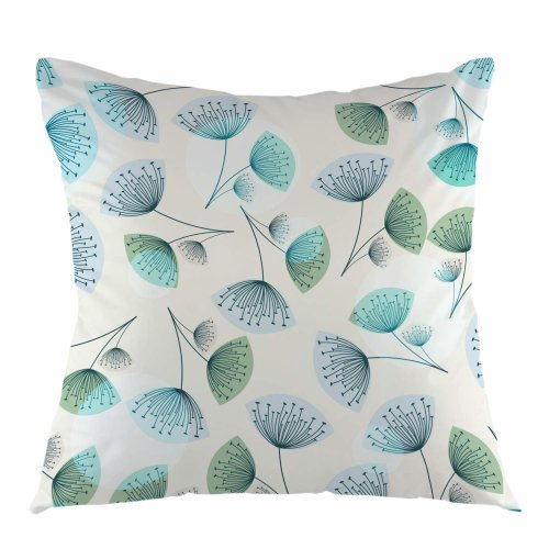 """Melyaxu Dandelion Throw Pillow Cover Square Cushion Case for Sofa Couch Car Bedroom Living Room 18"""" x 18"""" inch"""