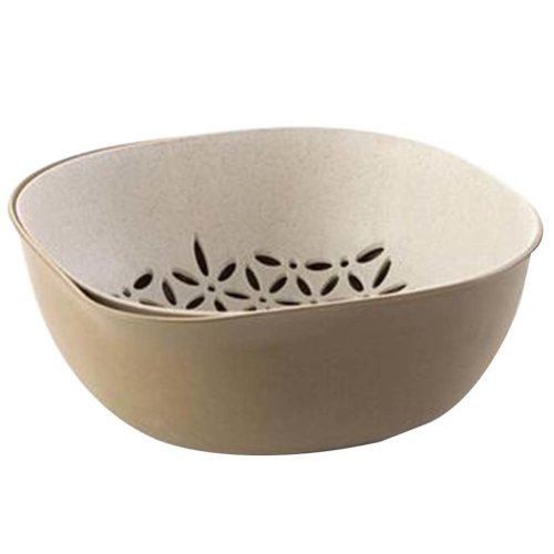 Creative Living Room Fruit-Plate Kitchen Vegetable Plate Drain Basket[D]