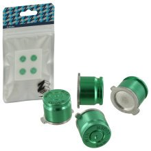 ZedLabz aluminum metal action bullet button set for Sony PS4 controllers - green
