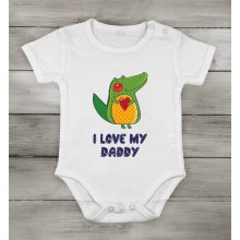 I love My Daddy safari frog Funny Cute Baby Newborn short Cotton cothing