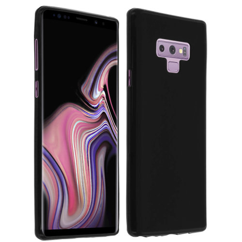 cc3a5a43323 Silicone case Glossy & matte back cover for Samsung Galaxy Note 9 - Black on  OnBuy