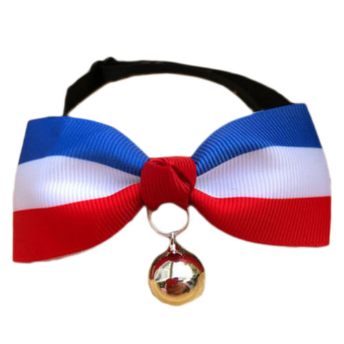 England Style Pet Collar Tie Adjustable Bowknot Cat Dog Collars with Bell-A09