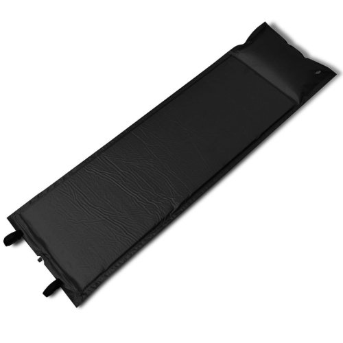 Black Self-inflating Sleeping Mat 185 x 55 x 3 cm (Single)