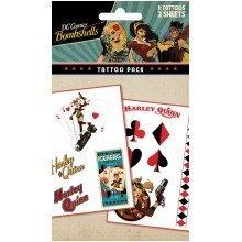 Dc Comics Harley Quinn Bombshell Tattoo Pack