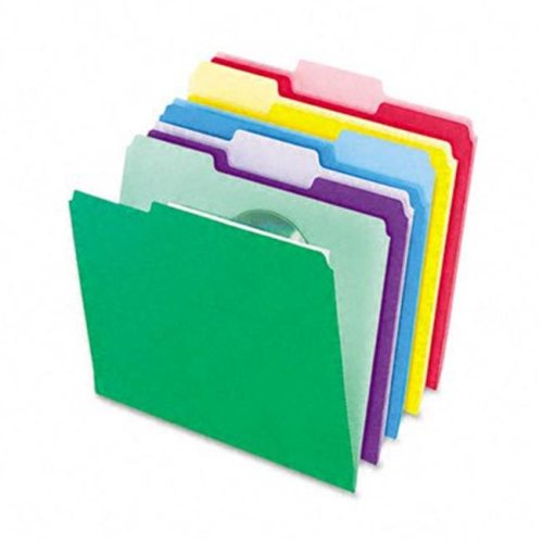 File Folders- InfoPocket- 1/3 Cut- Top Tab- Letter- Assorted- 30/Pack