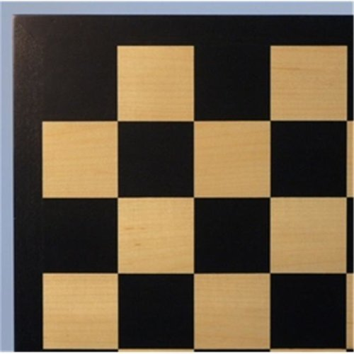 Veneer Wood Chess Board - Black and Maple