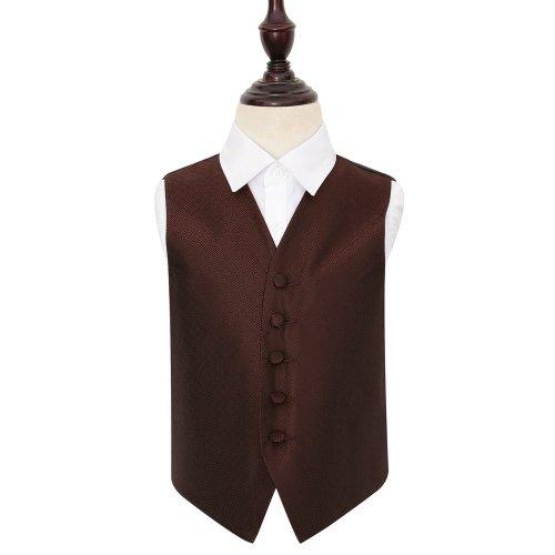 Burgundy Greek Key Wedding Waistcoat for Boys 28'