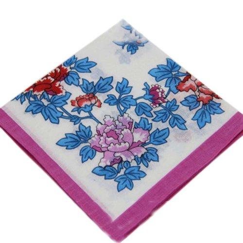 3 Pcs Vintage Handkerchiefs Ladies Pocket Flowers Handkerchief,  #05