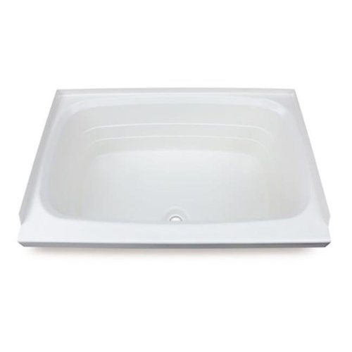 RV Bath Tub Center Drain - White