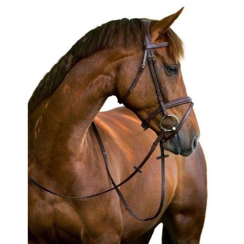 Kerbl Snaffle Bridle Classic Leather Brown Cob 324912