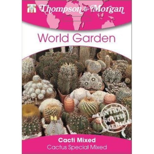 Thompson & Morgan - World Garden - Flowers - Cacti Mixed (Cactus Special Mixed) - 25 Seed