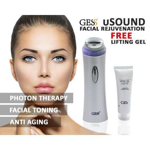 Ultrasonic LED Light Photon Therapy Skin Care Machine Anti Aging