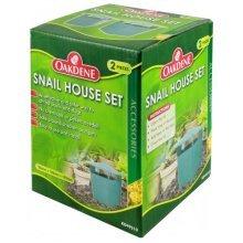 Oakdene 2 Piece Snail House Set - Effective Safe Slug Insect Control No - Oakdene Snail House Set Effective Safe Snail Slug Insect Control No