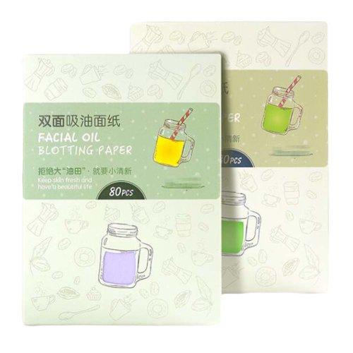 Bangs Facial Oil Blotting Sheets, Pack of 4(80 Sheets Each)