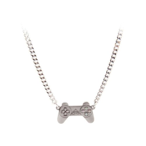 Sony Playstation Unisex Controller Necklace One Size - Silver/Metal