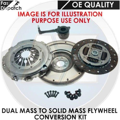 FOR AUDI A3 1.9TDI QUATTRO SOLID MASS FLYWHEEL CLUTCH CONVERSION KIT ASZ DUAL