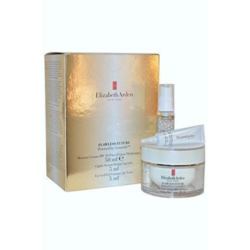 Elizabeth Arden Ceramide Flawless Future Moisture Cream 50ml SPF30 Serum Capsules 5ml, Eye Gel 5ml