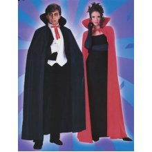 "Red Dracula Cape, 140cm (56"") -  cape red fancy dress dracula vampire halloween costume 56 adult long"