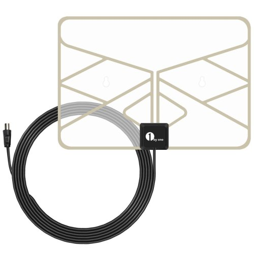 1byone 0.5 mm Paper Thin Transparent Window Aerial with 3 Metre Cable