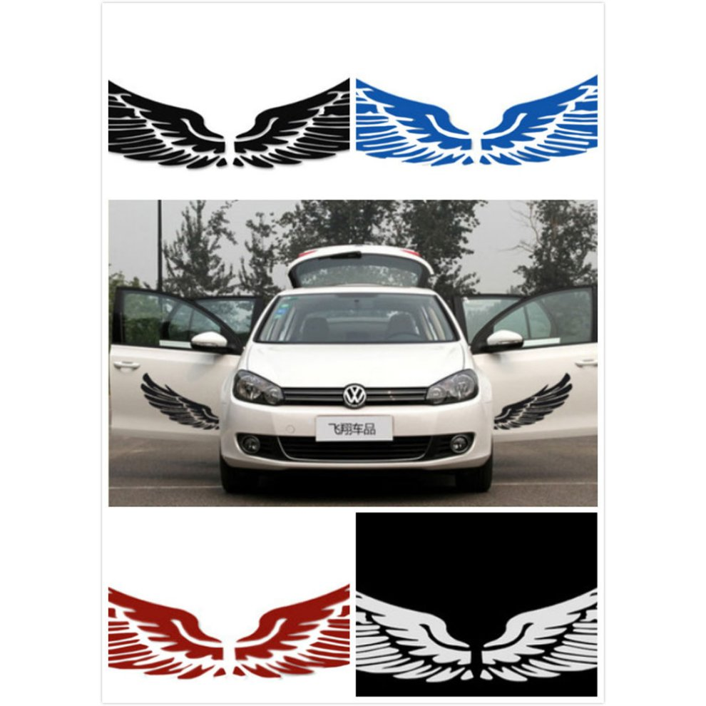 Set of 2 wings family car stickers unique design car sticker white 1