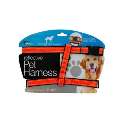 Kole Imports DI553-16 Large Reflective Dog Harness - Pack of 16