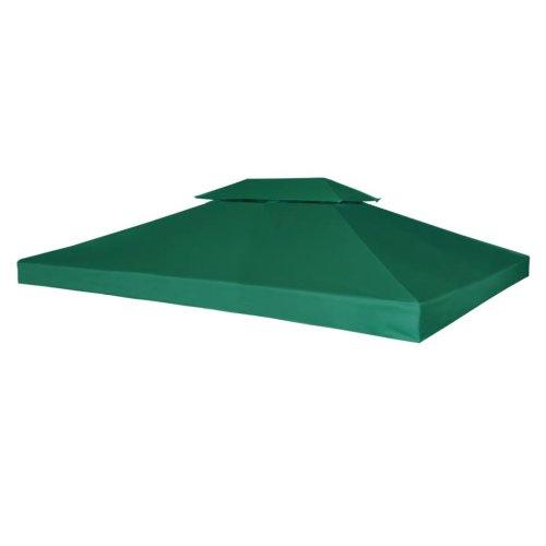 vidaXL Gazebo Cover Replacement 310g/m² Green 3x4m Waterproof Patio Canopy Top