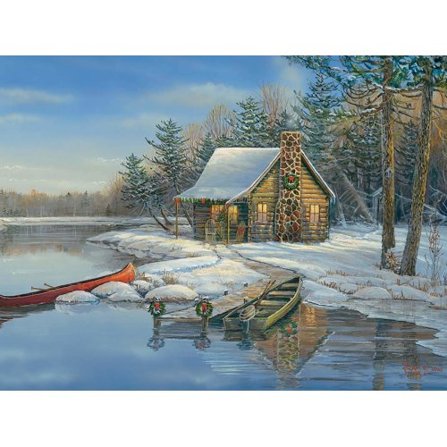 CBL88021 - Cobblehill Puzzles XL 275 pc - Winter Cabin